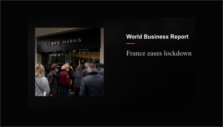 France Eases Lockdown