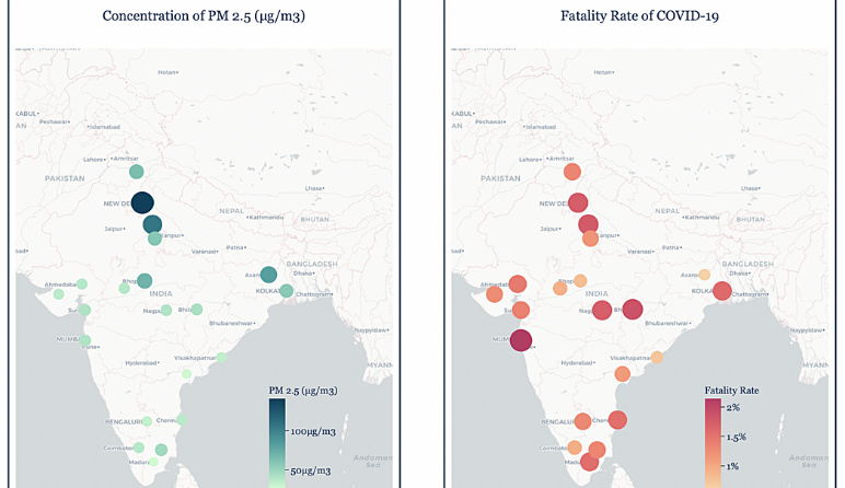 Picture This: Air pollution affecting Covid fatality in India?