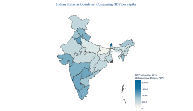 Picture This: If Indian States Were Countries – GDP per capita
